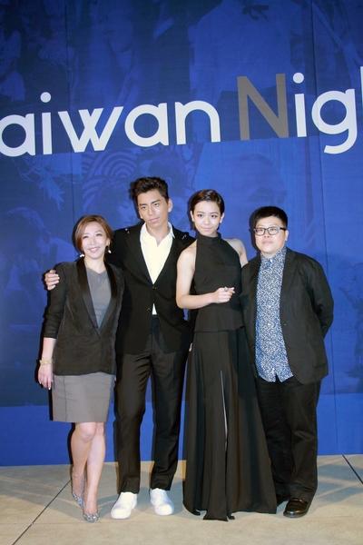 《我的少女时代》剧组,左起:导演陈玉珊、演员王大陆、演员宋芸桦、监制叶如芬。(国家电影中心提供)
