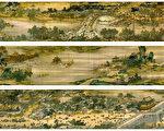 《清明上河图》描绘北宋京城汴梁(今河南省开封市)及汴河两岸的繁华和热闹的景象和优美的自然风光。(公有领域)