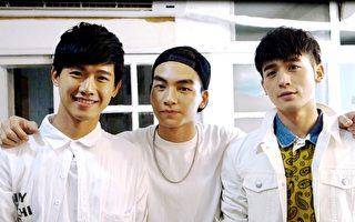 华剧《料理高校生》中学生演员大受欢迎,左为洪言翔,中为张洛偍,右为吴思贤。(三立提供)