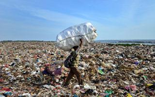 印尼度假勝地峇里島也面臨空前的垃圾危機。圖為島上的登巴薩垃圾場。 SONNY TUMBELAKA /AFP