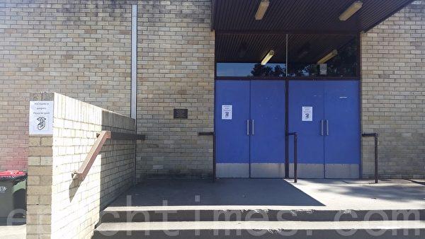 澳洲纽省车市活高中(Chatswood High School)仍在进行考试的HSC考场。(燕楠/大纪元)