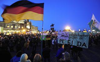德东德累斯顿数千人参加Pegida集会