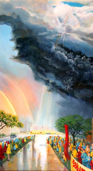《宇宙之声》Kathleen Gillis,油画,32in X 57.5in (2004)
