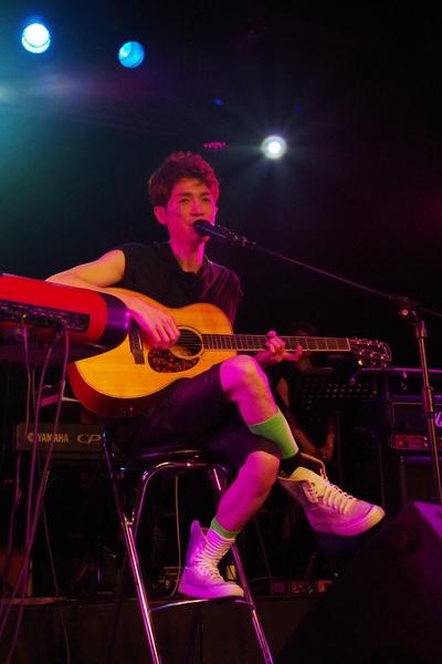 蕭閎仁舉行公益演唱會,鼓勵大家不要輕易放棄自己的夢想。(無限延伸提供)