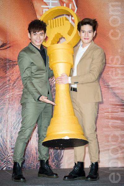 大馬男團FS10月21日在台北出席發片記者會。(陳柏州/大紀元)