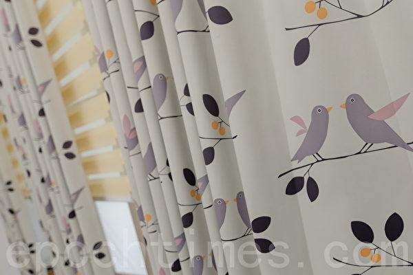 当风进来时,带动窗帘上的爱情鸟集体飞舞,空间将随着生动起来。(图:隆美提供)