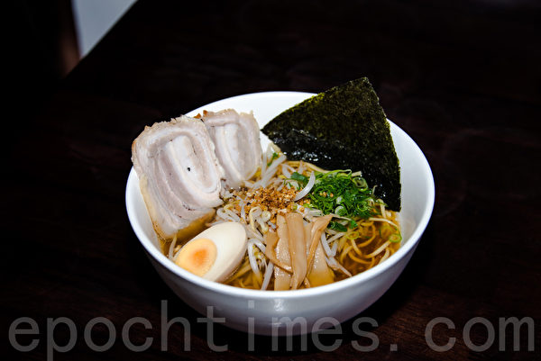 Arigataya-东京风味清淡味儿拉面(Light Flavour Ramen)。(林文责/大纪元)