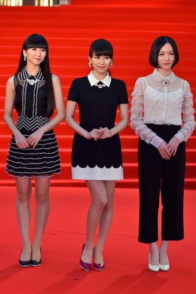 女子流行電子音樂組合Perfume首度參加東京影展。(Ken Ishii/Getty Images)