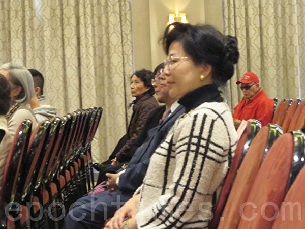 跟隨宋美齡40年的官邸武官宋亨霖的夫人宋林立雅出席紀念活動。(林丹/大紀元)