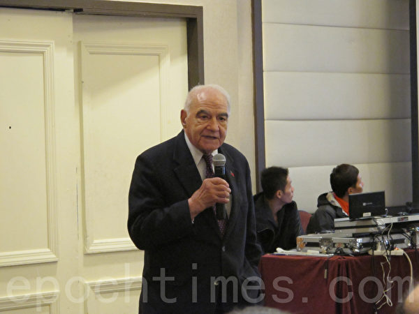 美國援華醫藥促進基金會會長Gerard Turino。(林丹/大紀元)