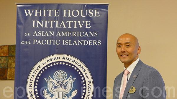 白宫亚裔美国人和太平洋岛民倡议行动的区域顾问洪其泰先生 (林达/大纪元)
