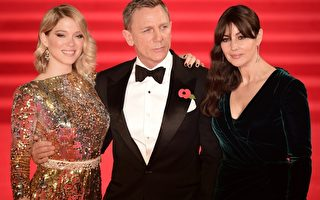 《007》伦敦首映 英王室与众星盛装出席