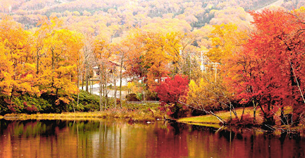 波可諾山秋季美景。(圖:Pocono Mountains提供)