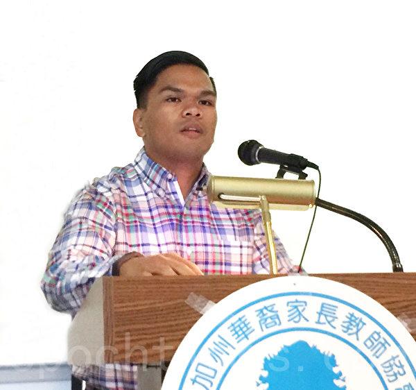 现任职美籍亚裔联合政治参与促进中心(CAUSE)的Josh Alegado,参加过UCDC实习。(Juliet Zhu/大纪元)