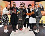 「男人幫」黃家強、任賢齊、蘇永康、梁漢文日前參加TVBS歡樂台《全球中文音樂榜上榜》節目錄影。(TVBS提供)