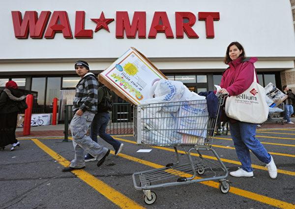 沃尔玛(Wal-Mart)。(PAUL J. RICHARDS/AFP/Getty Images)