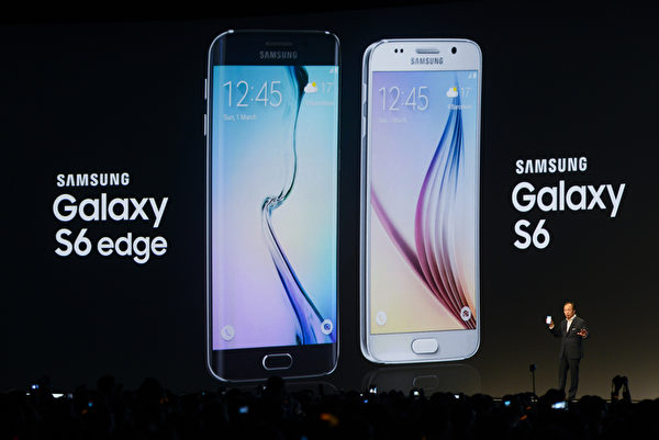 三星Galaxy系列的智能手机。(David Ramos/Getty Images)