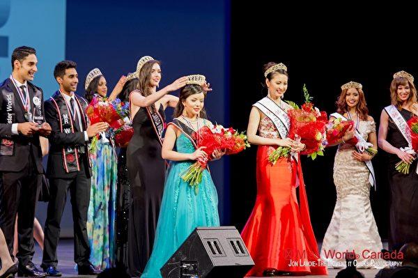 加拿大多伦多华裔女子林耶凡(Anastasia Lin)成功荣获2015年度世界小姐加拿大区冠军。(林耶凡提供)