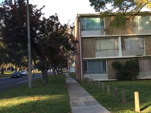 洛县政府官员11月10日宣布﹐公房等候申请将于12月17日终止。图为Northbourne Ave旁的公房。(李欣怡/大纪元)
