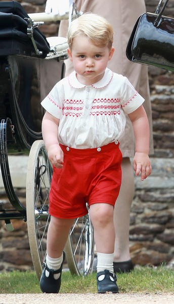 凱特王妃說,自己還沒有開始計劃聖誕節,但喬治很快就會談論聖誕節的到來。 (s Jackson/Getty Images)
