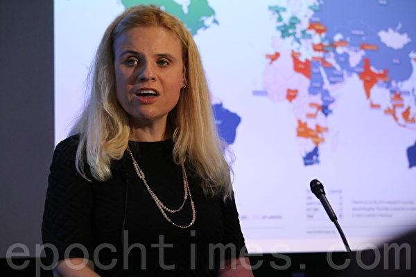 網絡自由報告項目主任莎娜•凱利(Sanja Kelly),「中共紫」令人擔憂。(蕭桐/大紀元)