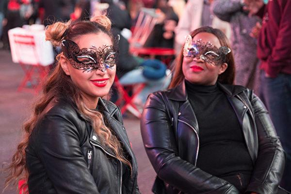 2015纽约时代广场万圣节之夜。(戴兵/大纪元)