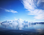 漂浮在格陵兰岛伊卢利萨特峡湾水中的冰山。(Joe Raedle/Getty Images)