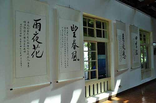 邓雨贤著名《四月望雨》歌曲的歌词书法作品。(图片提供:tony)