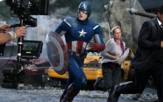 《美国队长3》在亚特兰大的Pinewood Studios拍摄场景。(Pinewood Studios)