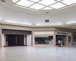 图:周末也感到空荡荡的Vallco Mall。(梁博/大纪元)