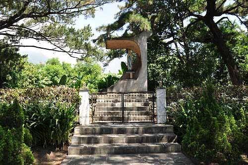 新城神社本殿祭台,如今成为圣母亭。 (图片提供:tony)