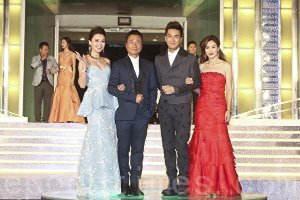 剧集《枭雄》中一众主角包括陈炜、黎耀祥、马国明及梁琤。(余钢/大纪元)
