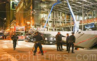 旧金山观光巴士连环事故 撞坏苹果新店 20人伤