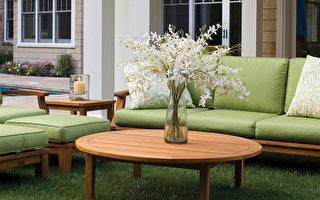典雅的户外沙发组,不轻易褪色。(商家提供)