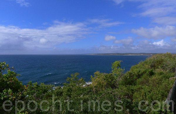 Low Head半島東邊是一望無際的巴斯海峽。(華苜/大紀元)