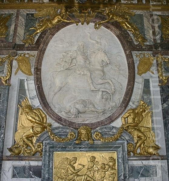 凡爾賽宮太陽王騎馬雕像。(章樂/大紀元)
