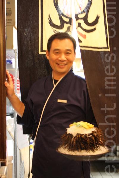 Make-Zushi的傳奇海膽。(沈一鳴/大紀元)