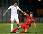 11月17日,中國男足在客場與香港隊0-0握手言和,晉級亞洲區12強已變得非常渺茫。(Isaac Lawrence/AFP/Getty Images)