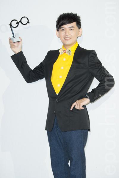 艺人黄子佼11月20日在台北出席杂志颁奖典礼。(陈柏州/大纪元)