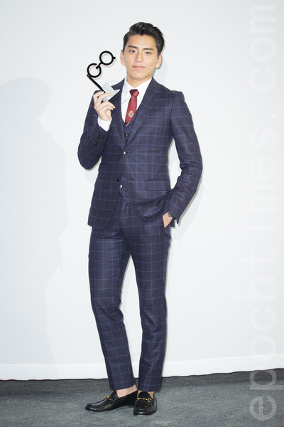 艺人王大陆11月20日在台北出席杂志颁奖典礼。(陈柏州/大纪元)