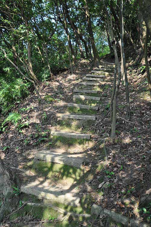 陡峭的山路,铺上石阶,又有拉绳,路况变得良好。  (图片提供:tony)