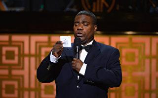 美国喜剧演员摩根日前披露,他在2014年发生车祸之后曾到另一个世界,而且见到上帝。图为他现身Spike TV的节目。(Theo Wargo/Getty Images)