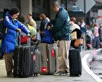 感恩节假期利用旧金山机场出行的民众超过14万。(Justin Sullivan/Getty Images)