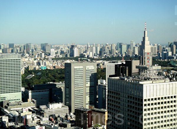 东京都厅展望台上看到的景色(蓝海/大纪元)