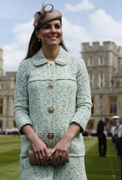 2013年,怀着小王子的英国王妃凯特出席一年一度的童军庆典活动。(Olivia Harris - WPA Pool/Getty Images)
