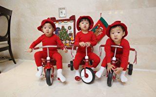 宋一国的三胞胎儿子大韩、民国、万岁。(中天提供)