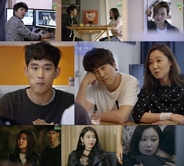 金秀贤(左)在电视剧《制作人》中的剧照。(KBS 2TV提供)