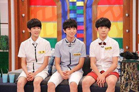 """大陆少男偶像团体""""TFBOYS"""",(左起)王源、王俊凯跟易烊千玺。(中天提供)"""