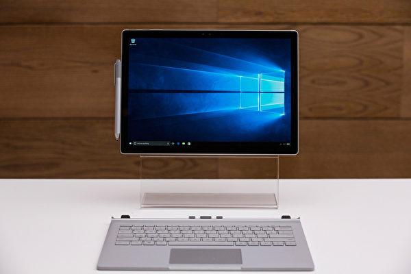 微软新推出的Surface Pro 4,具有轻、薄的特点。(Andrew Burton/Getty Images)
