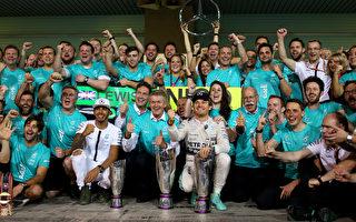 全年19站比赛,梅赛德斯车队赢了16个分站冠军。(Mark Thompson/Getty Images)